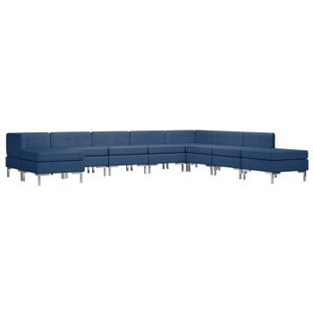 Sedežna garnitura 9-delna blago modra