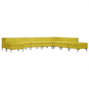 Sedežna garnitura 9-delna blago rumena