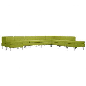 Sedežna garnitura 9-delna blago zelena