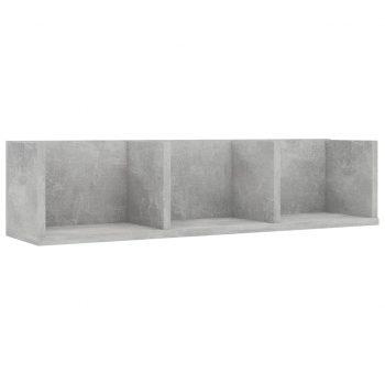 Stenska polica za CD plošče betonsko siva 75x18x18cm iverna pl.