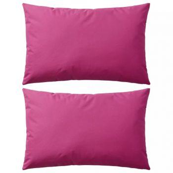 Zunanje blazine 2 kosa 60x40 cm roza