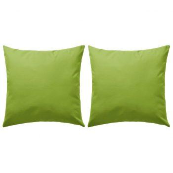Zunanje blazine 2 kosa 60x60 cm jabolčno zelene