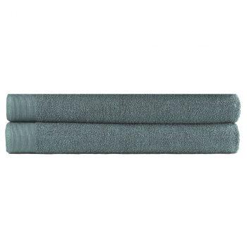 Brisače za savno 2 kosa bombaž 450 gsm 80x200 cm zelene