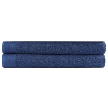 Brisače za savno 2 kosa bombaž 450 gsm 80x200cm mornarsko modre