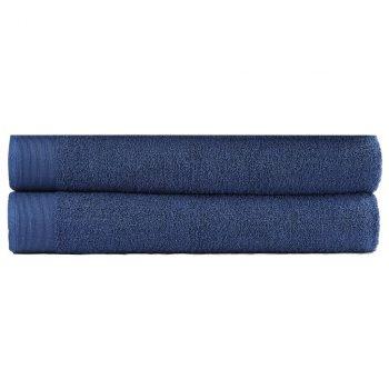 Kopalne brisače 2 kosa bombaž 450 gsm 100x150cm mornarsko modre