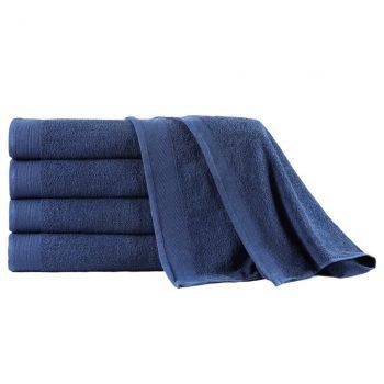 Kopalne brisače 5 kosov bombaž 450 gsm 100x150 cm modre