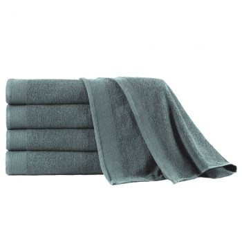 Kopalne brisače 5 kosov bombaž 450 gsm 100x150 cm zelene