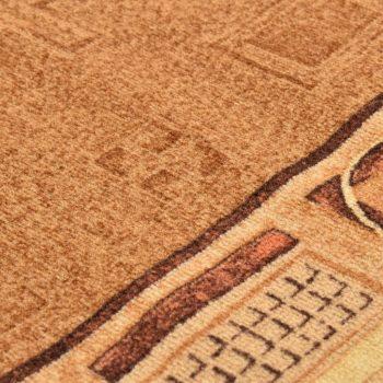 Tepih tekač z gelom proti drsenju bež 67x200 cm