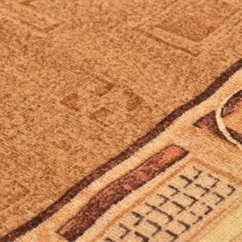 Tepih tekač z gelom proti drsenju bež 67x250 cm