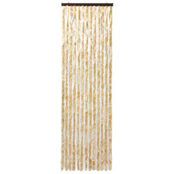 Zavesa proti mrčesu bež 90x200 cm šenilja