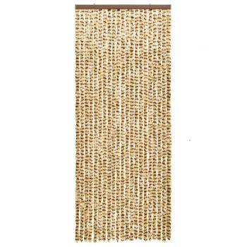 Zavesa proti mrčesu bež in rjava 56x185 cm šenilja