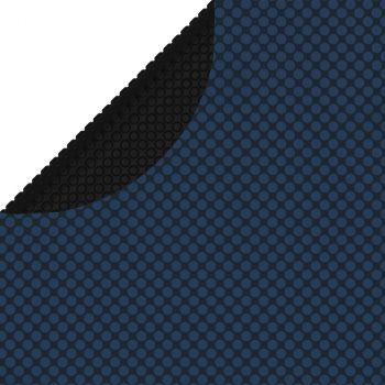 Plavajoča PE solarna folija za bazen 549 cm črna in modra