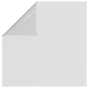 Plavajoča PE solarna folija za bazen 732x366 cm siva
