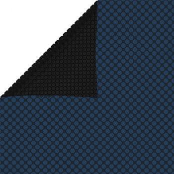 Plavajoča PE solarna folija za bazen 975x488 cm črna in modra