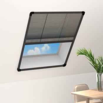 Plise komarnik za okna aluminij antraciten 60x160 cm